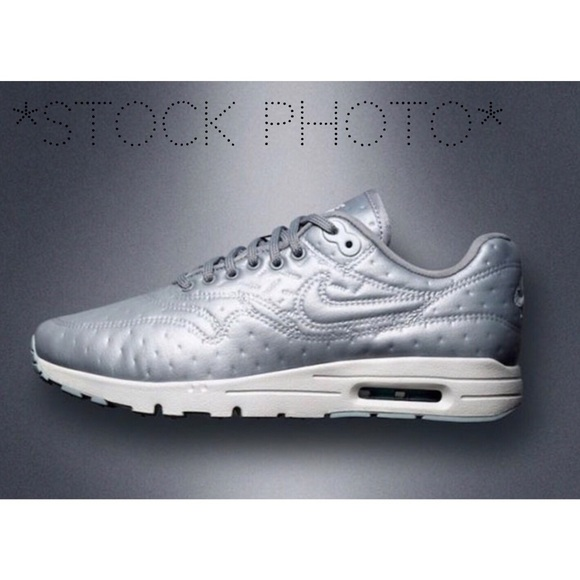 separation shoes official site skate shoes Nike Air Max 1 Ultra Premium Jacquard Silver NWOT